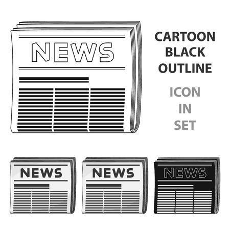 communication cartoon: Newspaper.Mail and postman single icon in cartoon style vector symbol stock illustration .