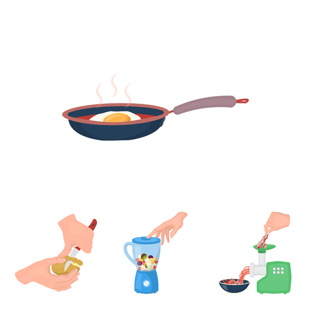 equipment, appliances, appliance and other web icon in cartoon style., cook, tutsi. Kitchen, icons in set collection.