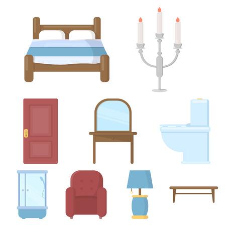door handle: Big collection of furniture vector symbol stock illustration