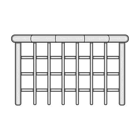 palisade: A wooden fence. A different fence single icon in monochrome style vector symbol stock illustration web. Illustration