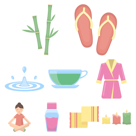Spa set icons in cartoon style. Big collection of spa vector symbol stock illustration