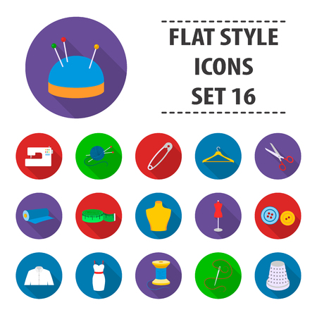 Atelie set icons in flat style. Big collection atelie vector symbol stock illustration Illustration