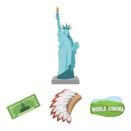 Mohavk, world cinema, dollar, a statue of liberty.