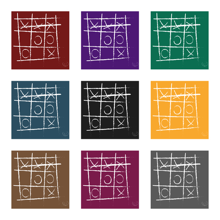 Tic-tac-toe icon in black style isolated on white background. Board games symbol vector illustration.
