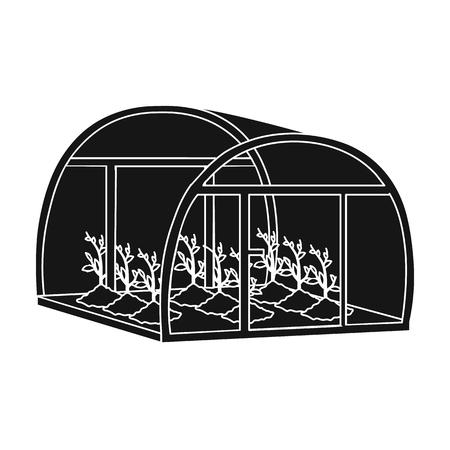 Greenhouse, single icon in black style .Greenhouse, vector symbol stock illustration .