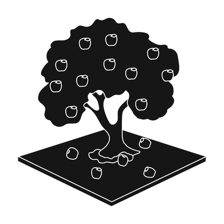 Apple single icon in black style. Apple vector symbol stock illustration . Illustration
