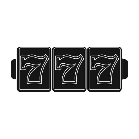Game single icon in black style. Illustration