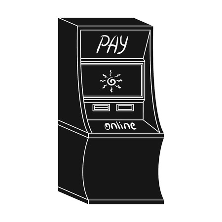 checking account: Terminal for various types of payment. Terminals single icon in black style isometric vector symbol stock illustration web.