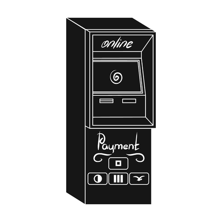 checking accounts: Terminal for various types of payment. Terminals single icon in black style isometric vector symbol stock illustration web.