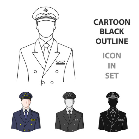 Pilot Professions single icon in cartoon style vector symbol stock illustration . Ilustração