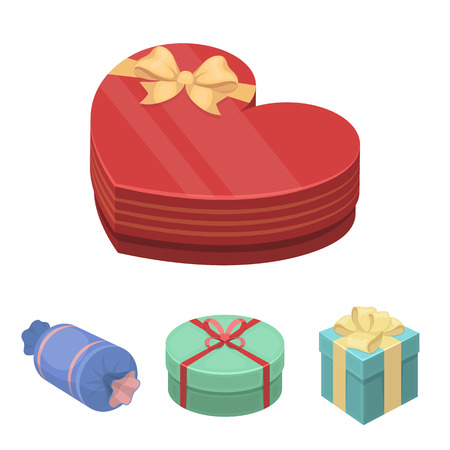 Gifts set collection icons in cartoon style vector symbol illustration web. Illustration