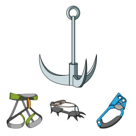 strapping: Mountaineering set collection icons Illustration