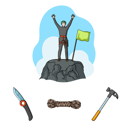 .Mountaineering set collection icons