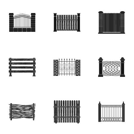 Different fence set collection icons