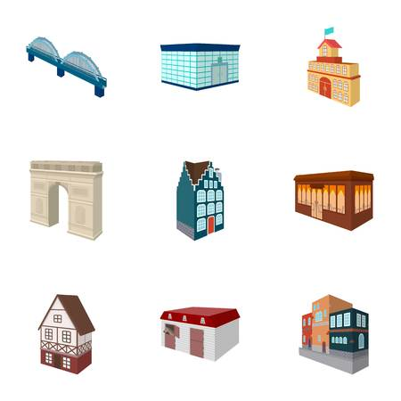 racing sign: Municipality building, bank office building, stable, wooden hut, bridge and other architectural structures.