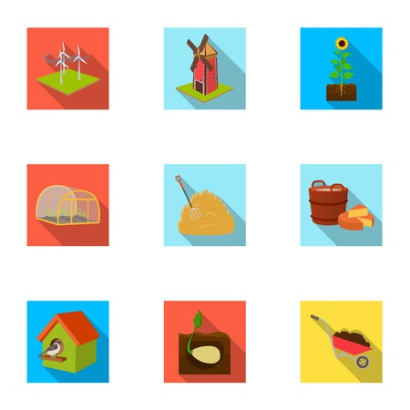 Farm, ecology, vitaminsand other web icon in flat style .Fertilizer, garden, farm, icons in set collection.