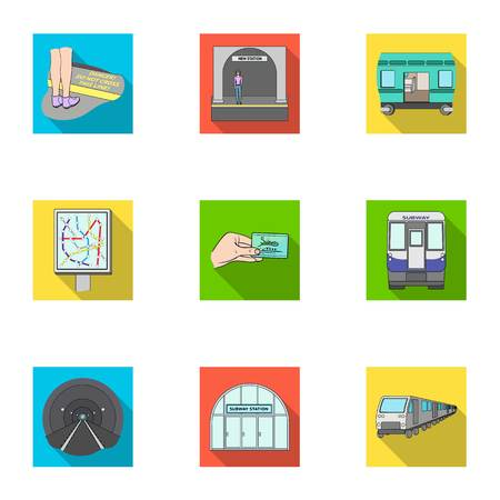 Public, electric transport and other web icon in flat style.Payment, machine, transport icons in set collection. Illustration