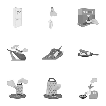 metal grater: equipment, appliance, kitchen and other web icon in monochrome style. piece, Smoked meat, delicacy icons in set collection.