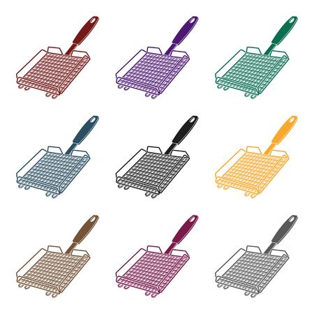 Grill grill.BBQ einzelne Ikone im schwarzen Artvektorsymbolvorrat-Illustrationsnetz. Standard-Bild - 85781612