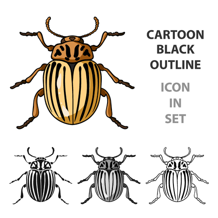 Colorado insect icon in cartoon design isolated on white background. Insects symbol stock vector illustration.