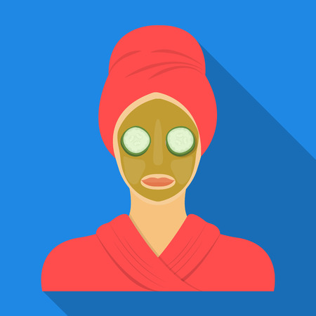 Mask, single icon in flat style.Mask, vector symbol stock illustration web.