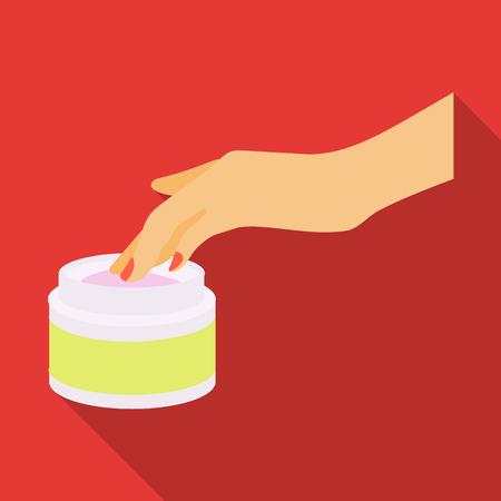 Cream, single icon in flat style.Cream, vector symbol stock illustration web.