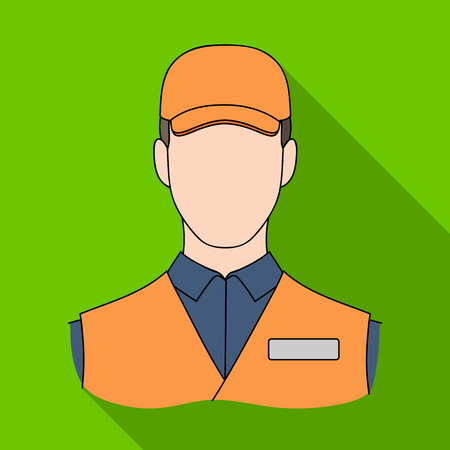 Man single icon in flat style