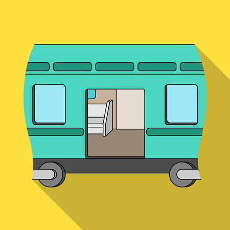 Wagon, single icon in flat style