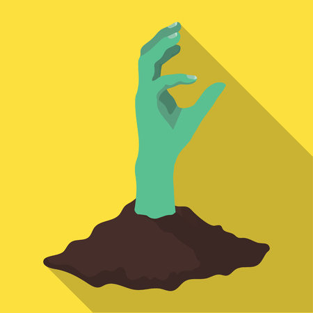 Hand, single icon in flat style Illustration