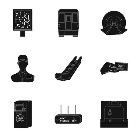 Movement, electric transport and other  icon in black style. Public, transportation, means icons in set collection.