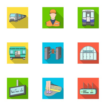Movement, electric transport and other  icon in flat style. Public, transportation, means icons in set collection. Illustration