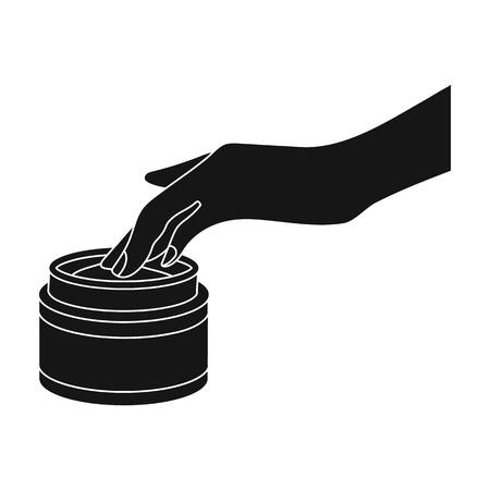 Cream, single icon in black style.Cream, vector symbol stock illustration web.