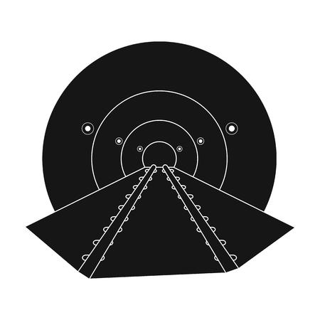 Tunnel, single icon in black style.Tunnel, vector symbol stock illustration web.