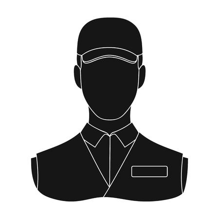 Man single icon in black style.Man, vector symbol stock illustration web. Иллюстрация