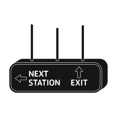 Signboard, single icon in black style.Signboard, vector symbol stock illustration web.