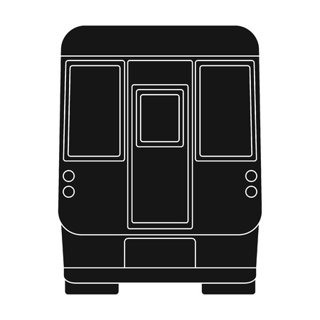 Wagon, single icon in black style.Wagon vector symbol stock illustration web. Illustration