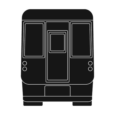 Wagon, single icon in black style.Wagon vector symbol stock illustration web. Иллюстрация