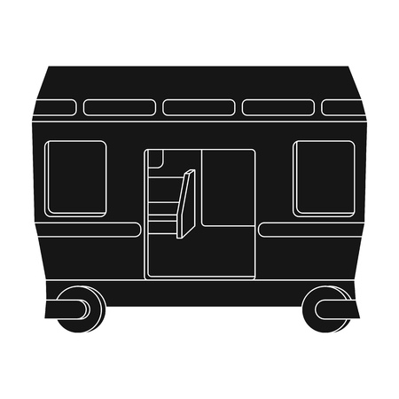 Wagon, single icon in black style.Wagon vector symbol stock illustration web. Иллюстрация