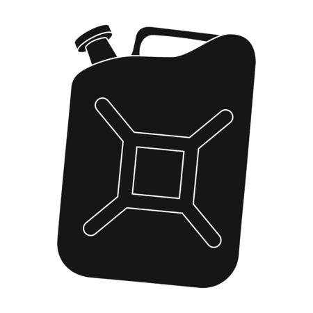 Canister single icon in black style.Canister vector symbol stock illustration web. Illustration