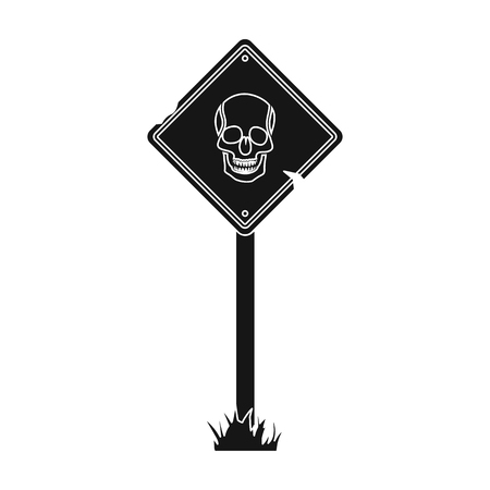 Sign, single icon in black style.Sign, vector symbol stock illustration web. Illustration