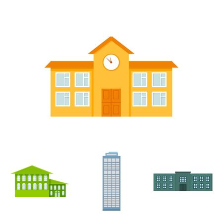 city building: Building set collection icons Illustration