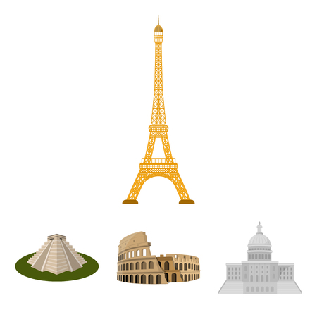 Building, interesting, place, coliseum .Countries country set collection icons in cartoon style vector symbol stock illustration .