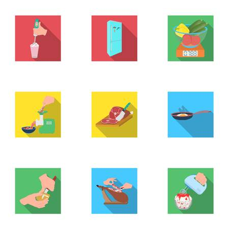 tools, kitchen, restaurant and other icon in flat style.vitamins, food, equipment, icons in set collection.