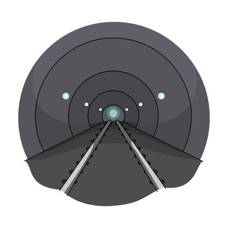 Túnel, icono único en estilo de dibujos animados. Túnel, símbolo de vector stock de ilustración.