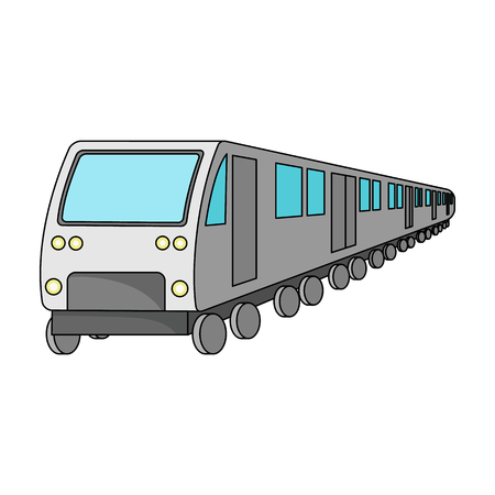 Train, single icon in cartoon style.Train, vector symbol stock illustration . Illustration
