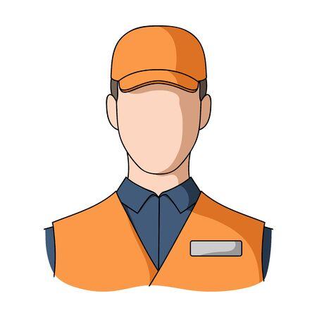 Man single icon in cartoon style.Man, vector symbol stock illustration . Иллюстрация