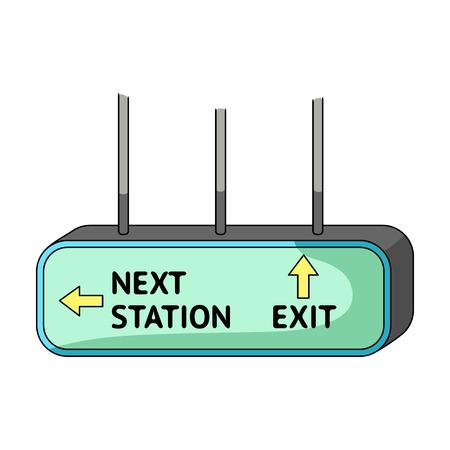 Signboard, icono único en estilo de dibujos animados. Ilustración de vector