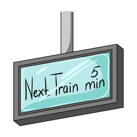 Signboard, icono único en estilo de dibujos animados.