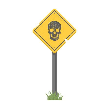 infected: Sign, single icon in cartoon style.Sign, vector symbol stock illustration .