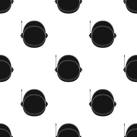 casing: Protective helmet cosmonaut. Space technology single icon in black style vector symbol stock illustration . Illustration